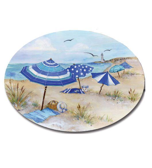 Decorative Plastic Serving Trays Beach Chairs And Umbrellas Theme Decor Melamine Plastic Oval