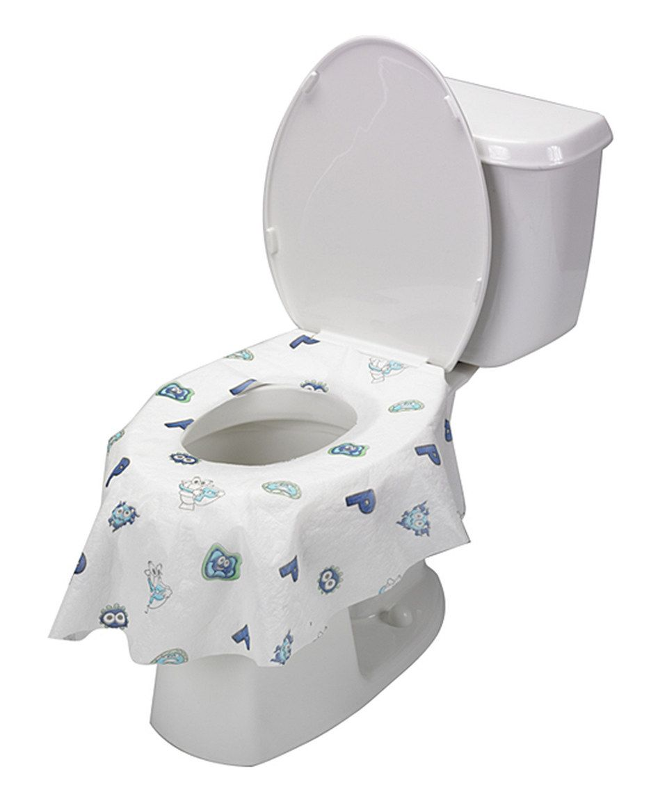 Potty Shield White & Blue Disposable Toilet Seat Covers - Set of 20 | Toilet  seat cover, Potty training tips, Potty