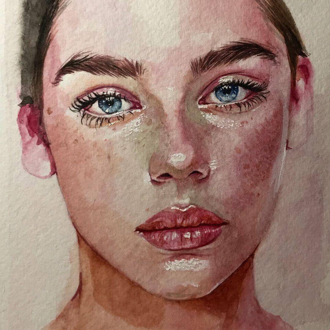 Watercolor Portrait Watercolor Portraits Watercolor Portrait