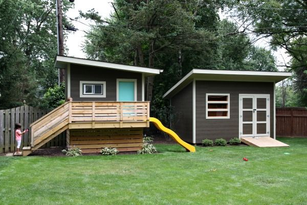 modern playhouse and shed To Nest Pinterest Modern playhouse