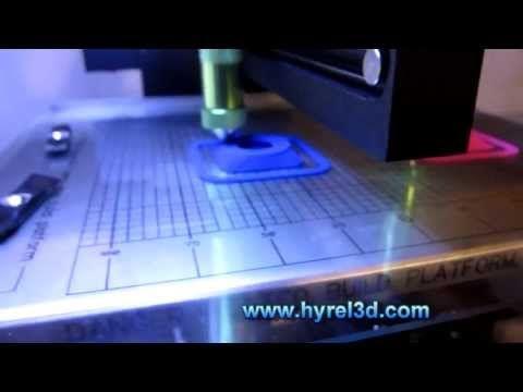 HYREL 3D - Simultaneous 3D Printing (multiple parts)