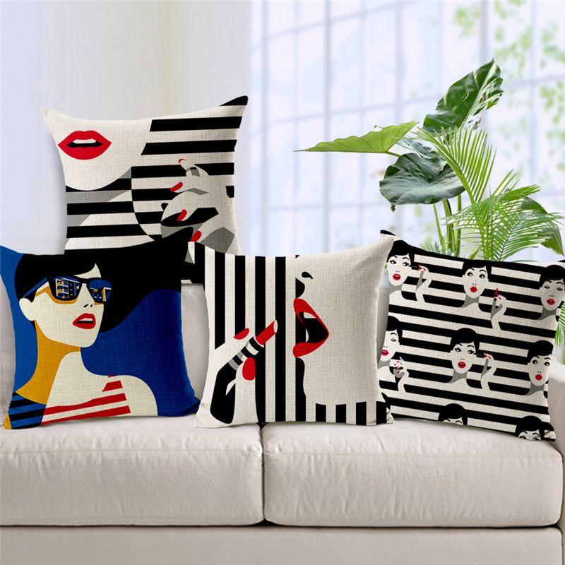 decorative throw pillow case fashion women cushion cover black rh pinterest co uk