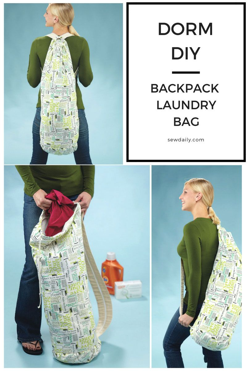Diy Backpack Laundry Bag Perfect For Dorm Dwellers Laundry Bags
