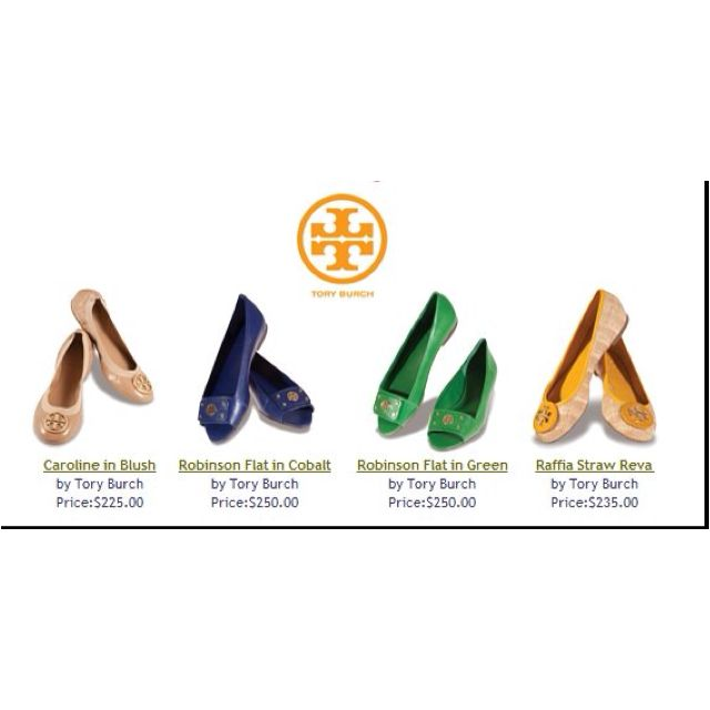 Tory Burch shoes...great colors