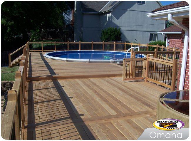 Cedar Pool Deck Deck Deck Builders Custom Pools