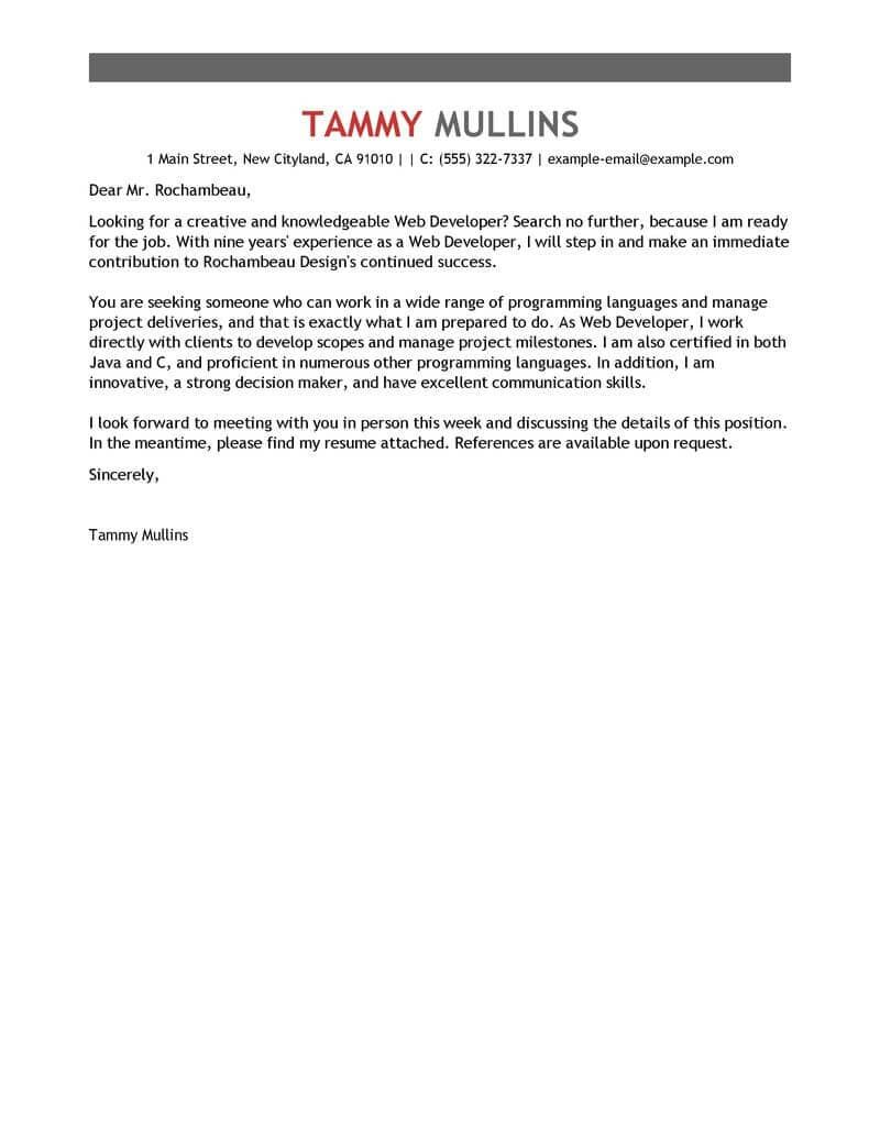 30+ Great Cover Letters . Great Cover Letters Best Web ...