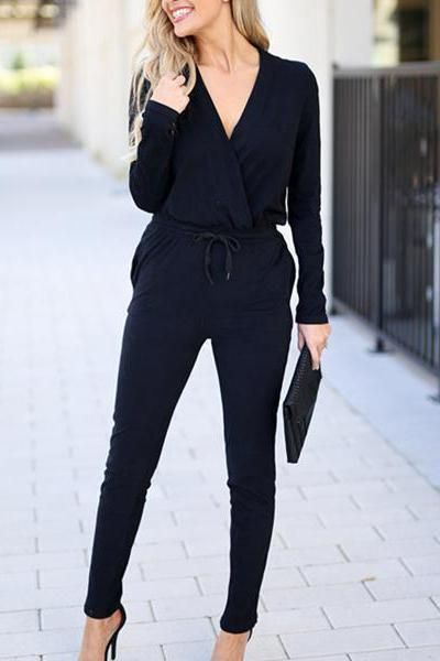 Fashion Casual Pure Color V-Neck Long Sleeve Knit Slim Jumpsuit #casualjumpsuit Fashion Casual Pure Color V-Neck Long Sleeve Knit Slim Jumpsuit – stylishpop casual jumpsuit,jumpsuit outfit, jumpsuit fashion, classy jumpsuits, 90s jumpsuits, jumpsuits women, jumpsuits casual, #jumpsuitoutfitwork #jumpsuitcasual #jumpsuitelegant #jumpsuitoutfit #jumpsuitformal#jumpsuitwork #jumpsuitprom#stylishpop #casualjumpsuit