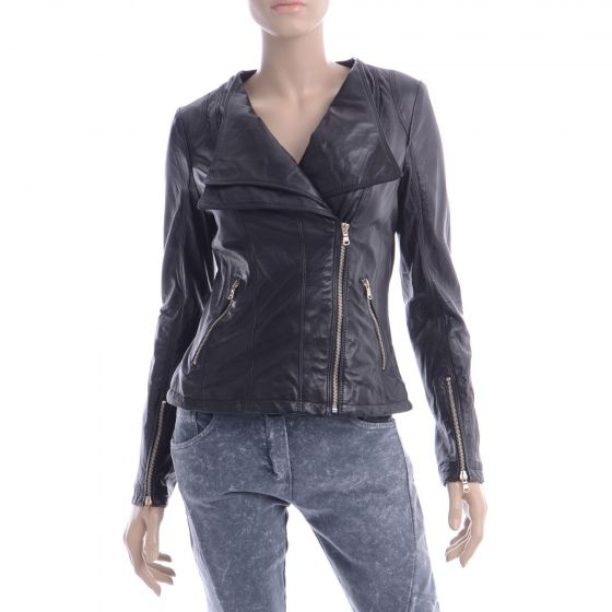 Kurtka Skorzana Ma78 N Nero Fashion Jackets Leather Jacket