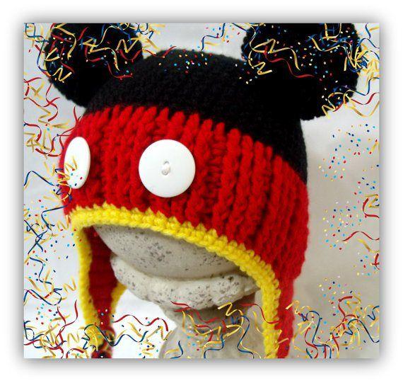 Mickey Mouse Crochet Hat Pattern Crochet Patterns Pinterest