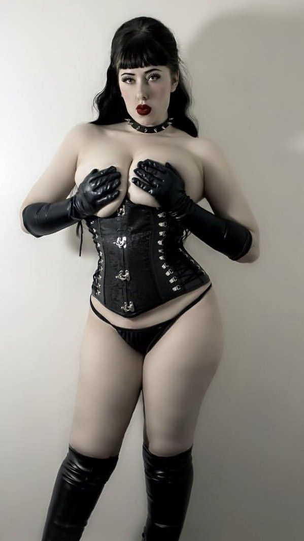 Boot corset cross dresser fetish fur gloves