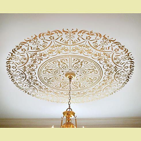 Stencils love this how beautiful elegant stencil over chandelier love this how beautiful elegant stencil over chandelier brilliant aloadofball Image collections
