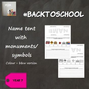 Let S Start The New School Year With An Informative Name Tent Students Will Name Tent Names New School Year