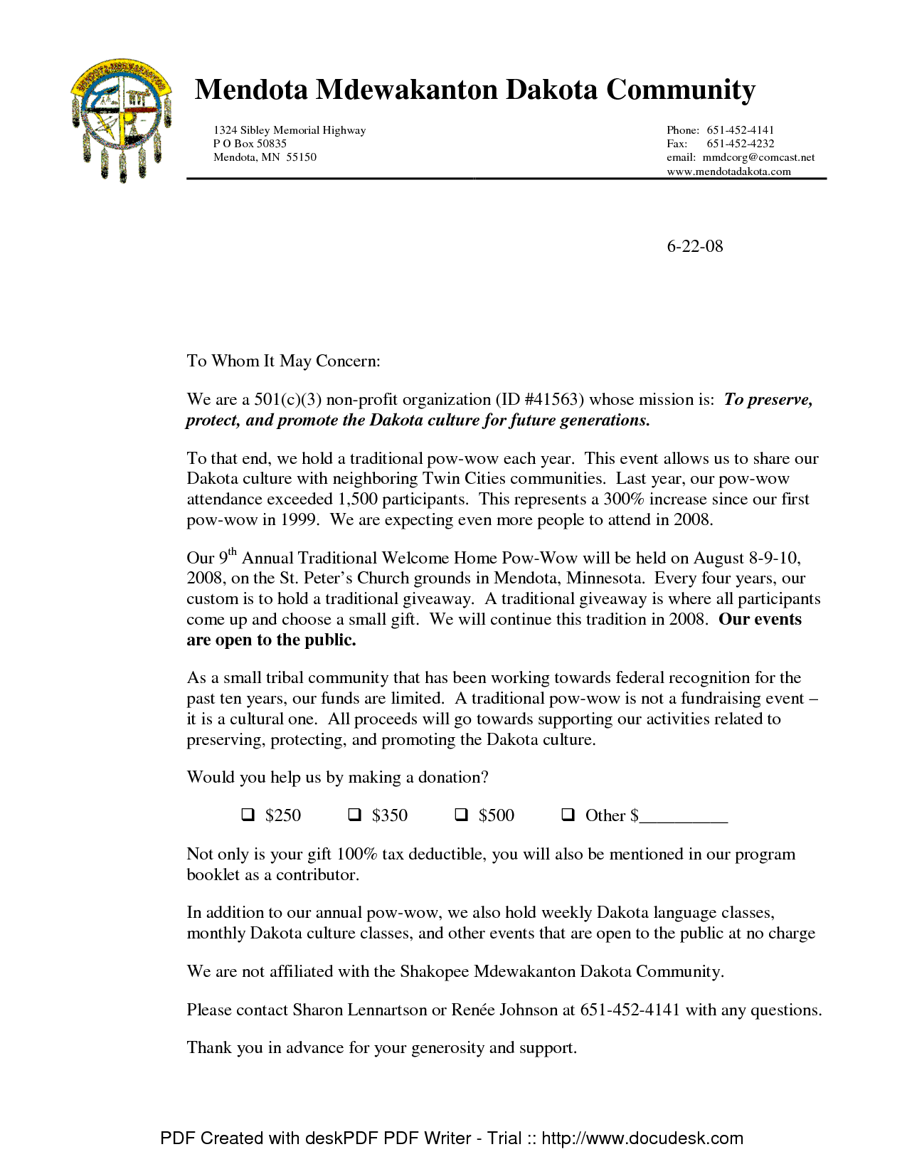 NonProfit Donation Request Letter Template Donation