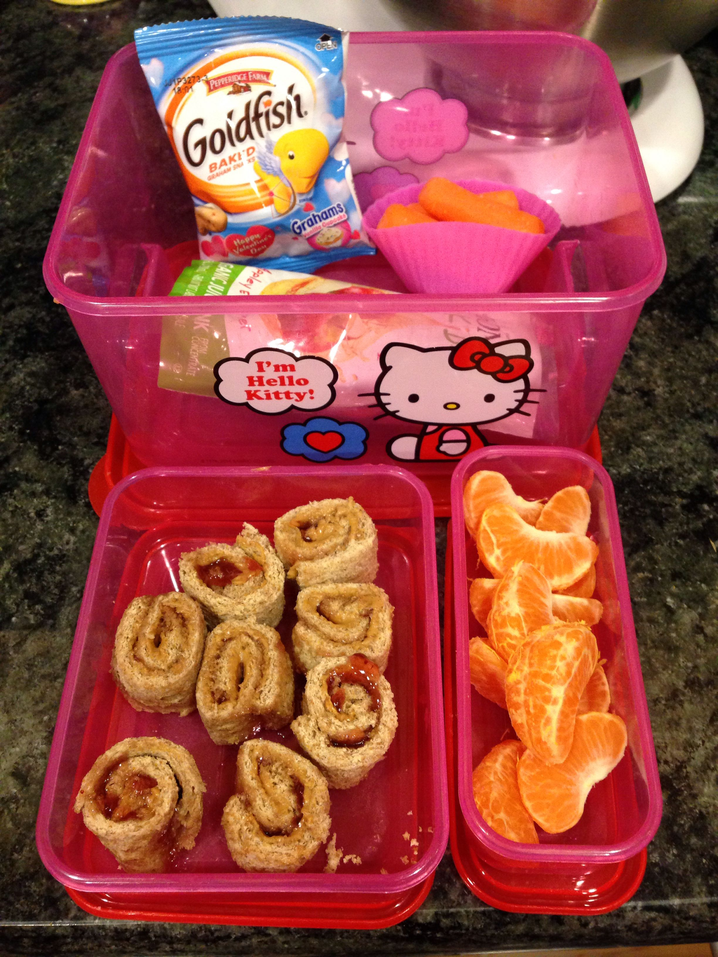 """Kids Lunches Pb& """"sushi Style"""" Rolls Cutie Wedges"""