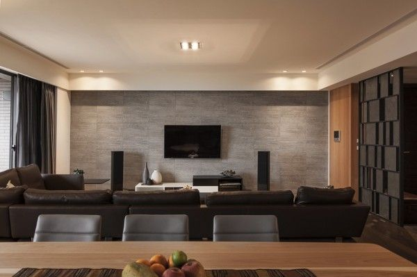 amazing interior design with soothing ambience chocolate leather