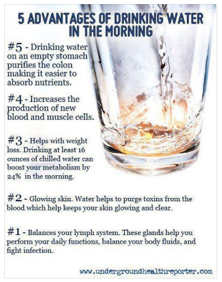 Drinking Water the first thing in the Morning. I fill the Largest ...