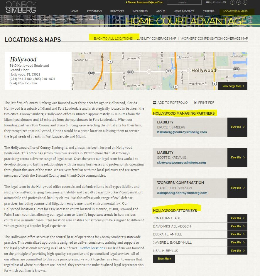 Use These Law Firm City Pages As A Template For Your Own City