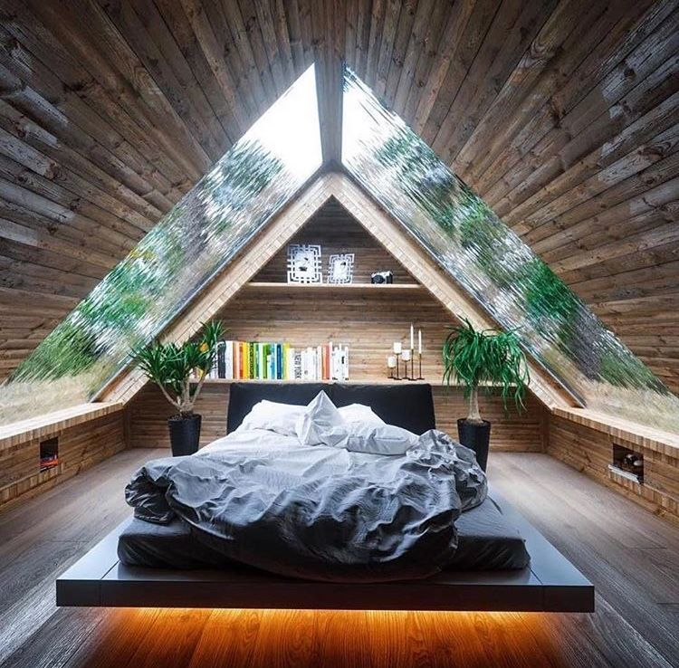 Attic Bedroom With Skylights