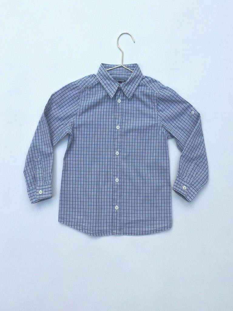 Bonpoint Boy's Grey Checked Cotton Shirt Cotton shirt