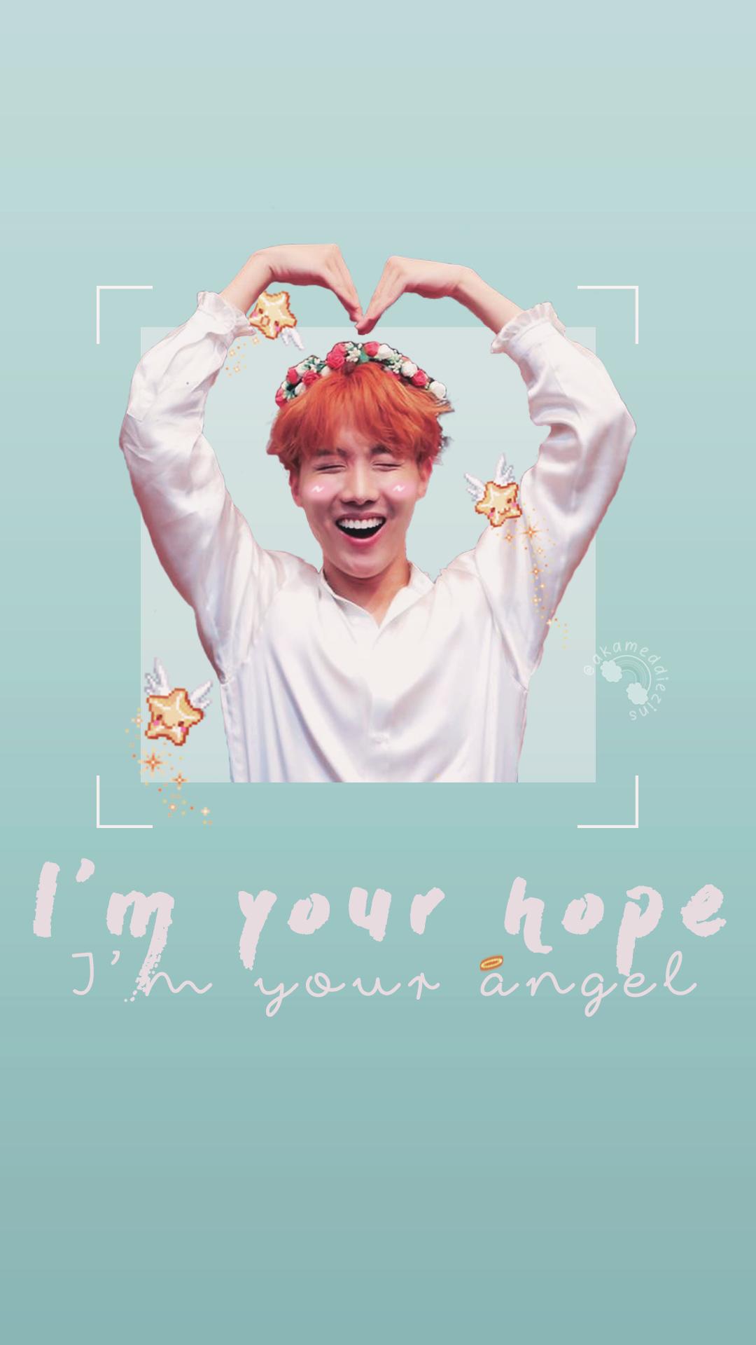 Jung Hoseok J Hope Cute Bts Wallpaper Lockscreen I M Your Hope I M Your Angel Hobi 3 Hope Wallpaper Cute Love Wallpapers Bts Wallpaper