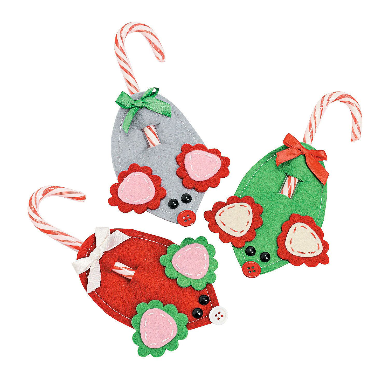 mouse candy cane holder christmas ornaments