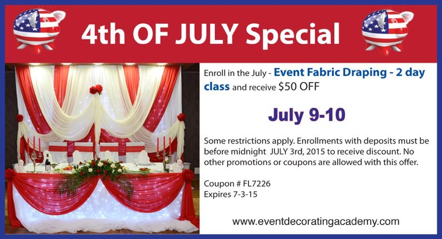 4th Of July Event Decorating Academy Special Offer Receive