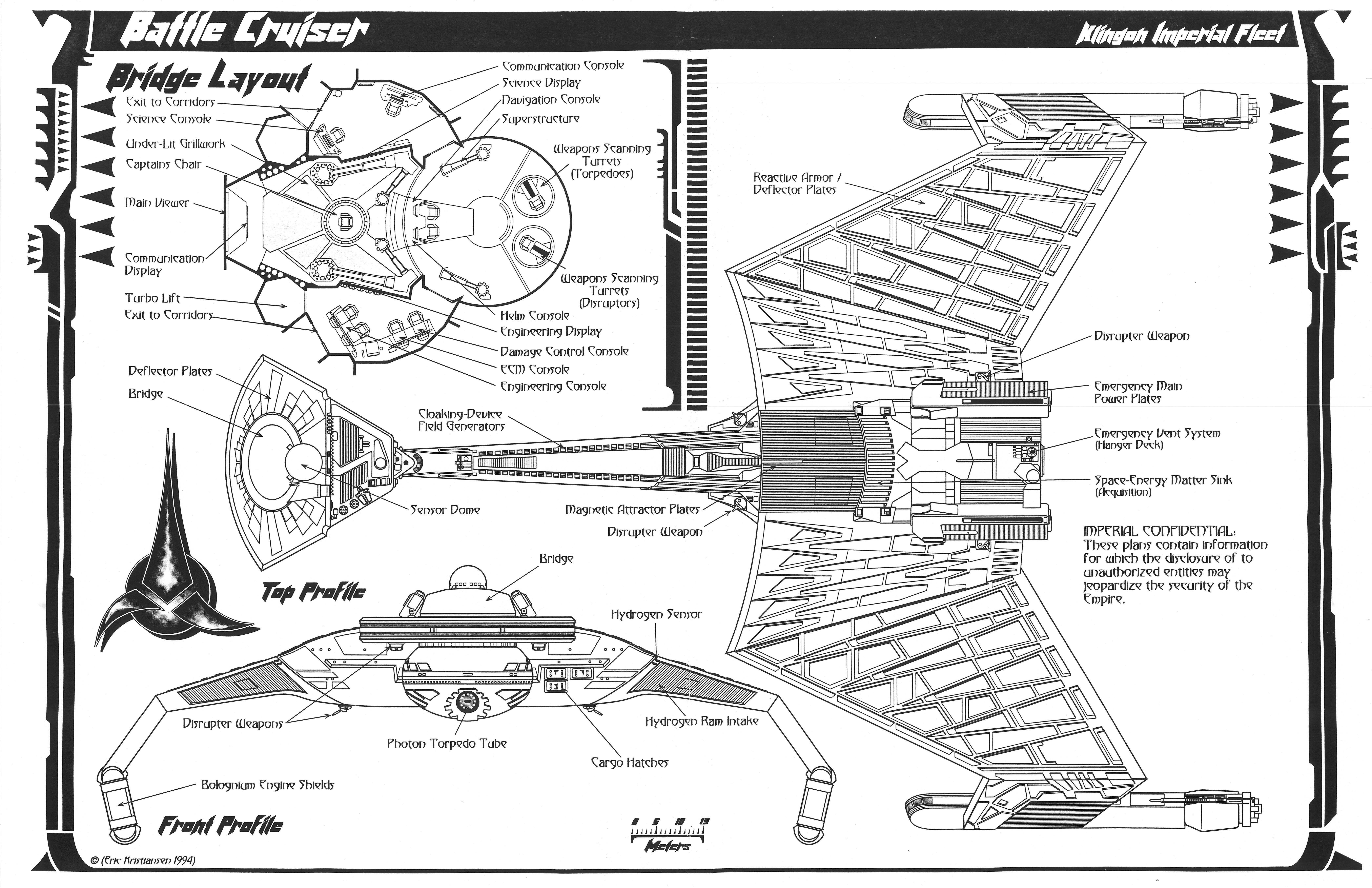 Klingon K T Inga Class Battle Cruiser