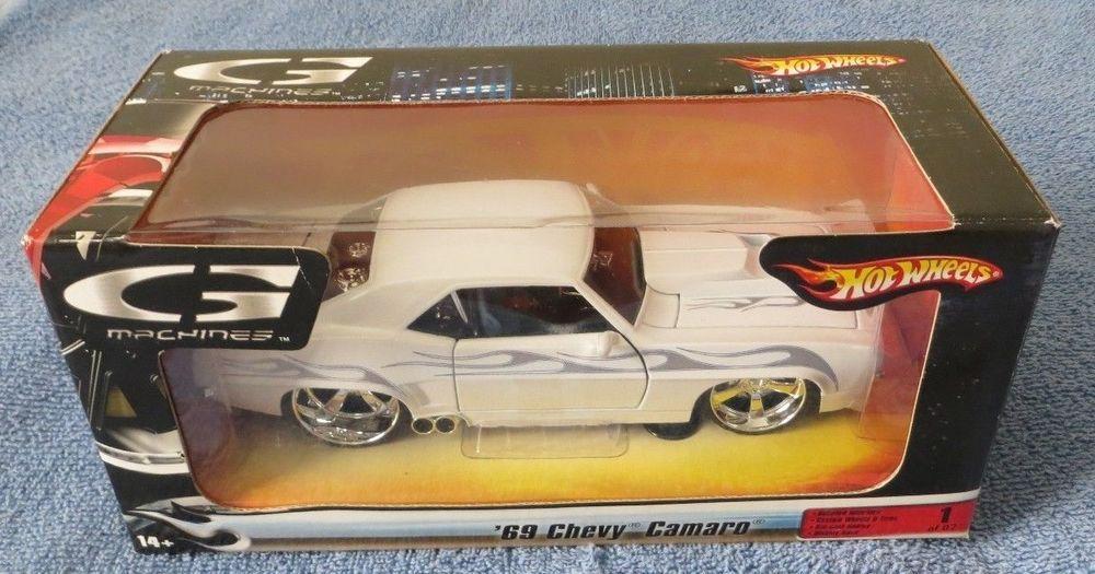 Hot Wheels G Machines 1969 Chevy Camaro White W Silver Flames