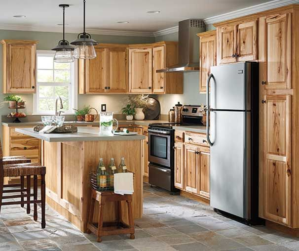 Kitchen Cabinetry Ideas And Inspiration At Value Prices Be Inspired By These Kitch Hickory Kitchen Cabinets Kitchen Cabinet Design Pine Kitchen Cabinets