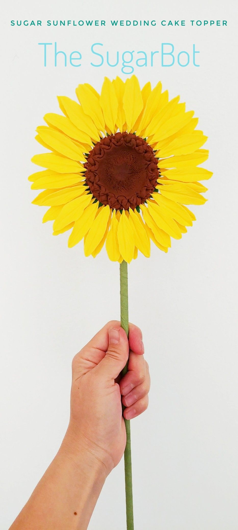 Perfect for a summer wedding custom sugar sunflower