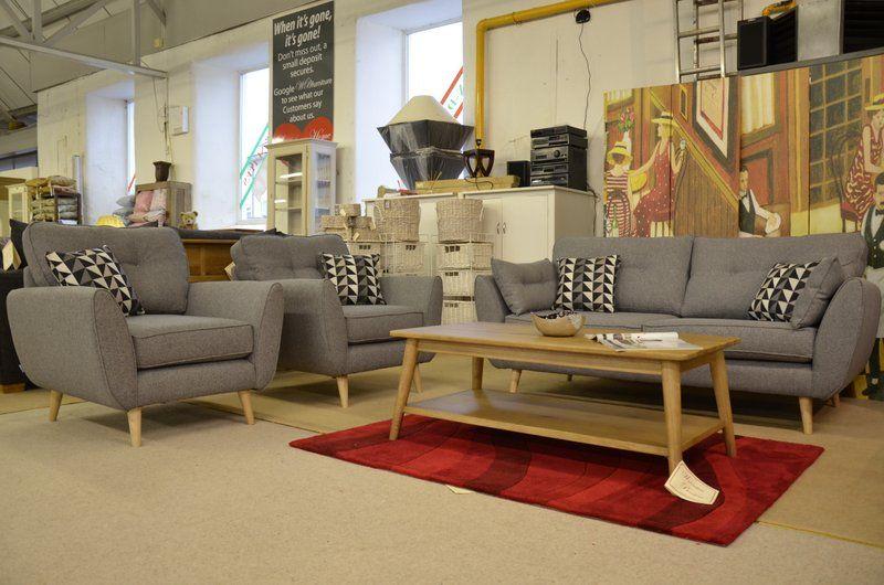 Zinc 3 Seater Sofa 2 Armchairs Famous French Brand Living Room Sofa Living Room Fabric Sofa