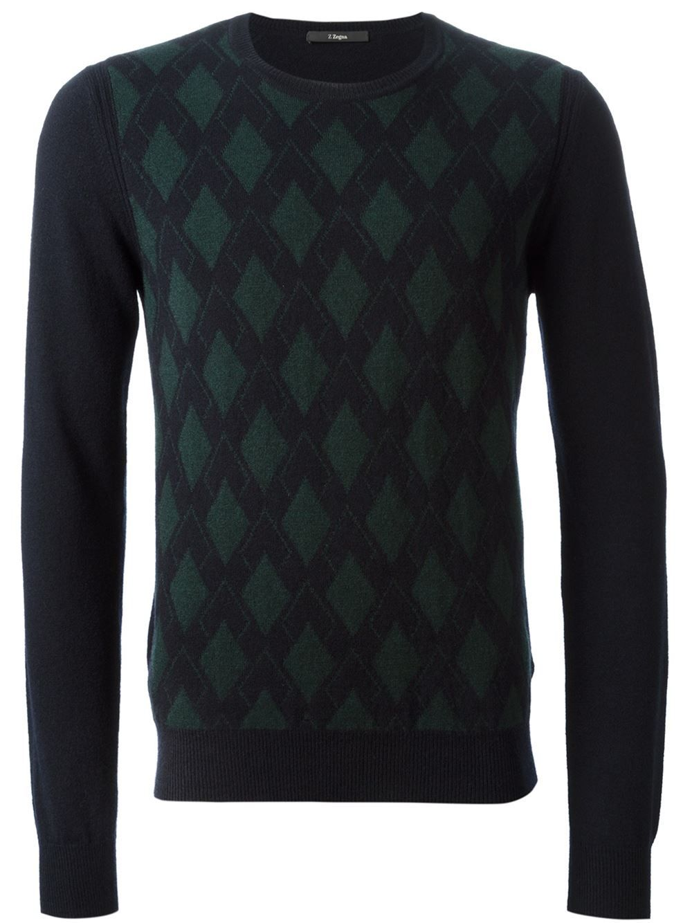 e114bc8c7b8359 Ermenegildo Zegna Argyle Pattern Sweater - Papini - Farfetch.com