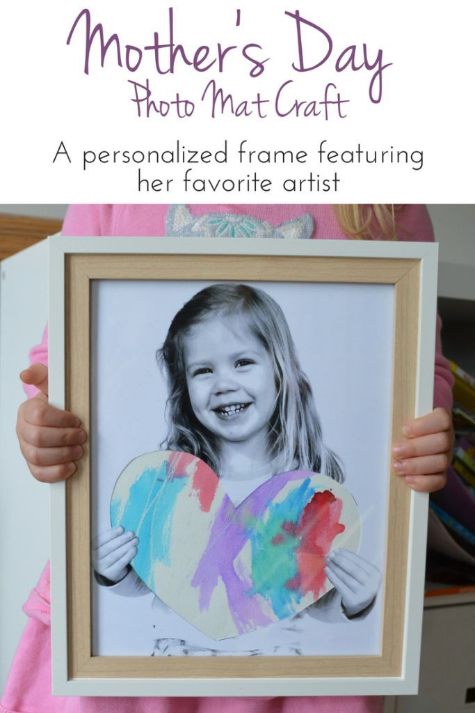 Mother\'s Day Personalized Photo Craft | Pinterest | Photo frame ...