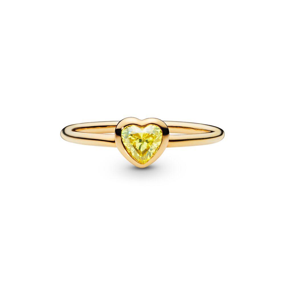 anello pandora cuore oro