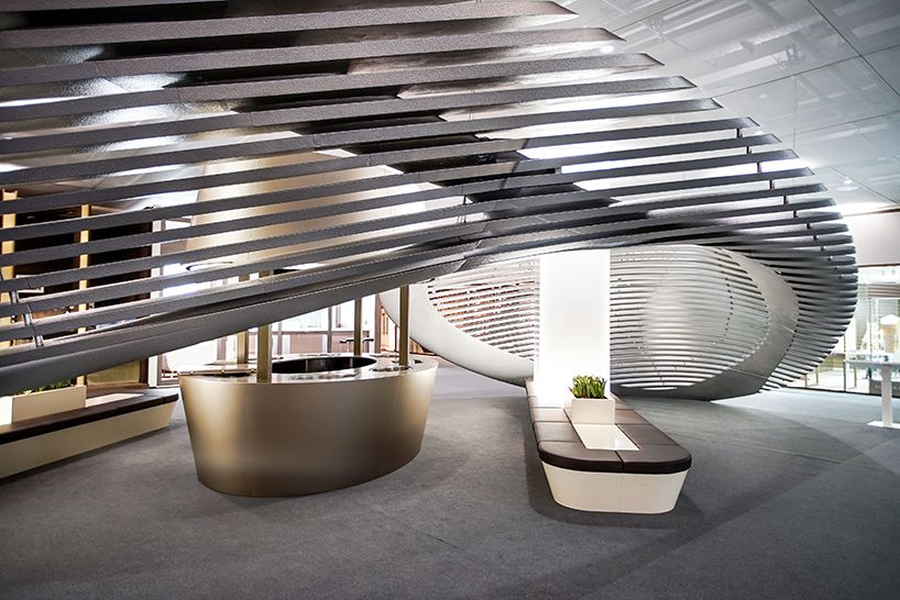 exclusive look at zaha hadid's installation and jewelry collection for georg jensen
