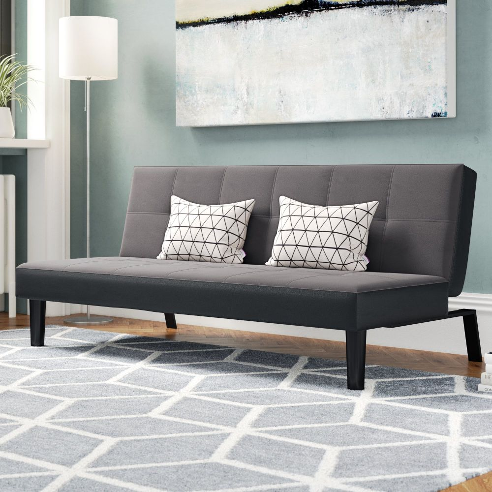 H4home Modern Click Clack Sofa Bed 3 Seater Single Fabric