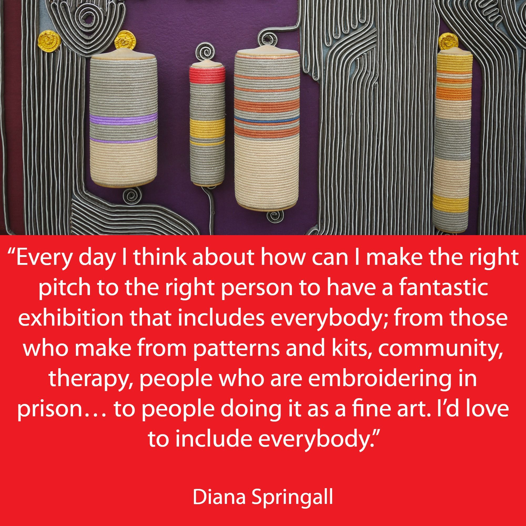 This week on the TextileStories podcast to we had the privilege of speaking with artist embroiderer Diana Springall about the evolution and future of embroidery and her decision to make her personal collection available online,