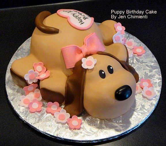 Cute Dog Birthday Cake Puppy Birthday Cakes Cute Birthday Cakes