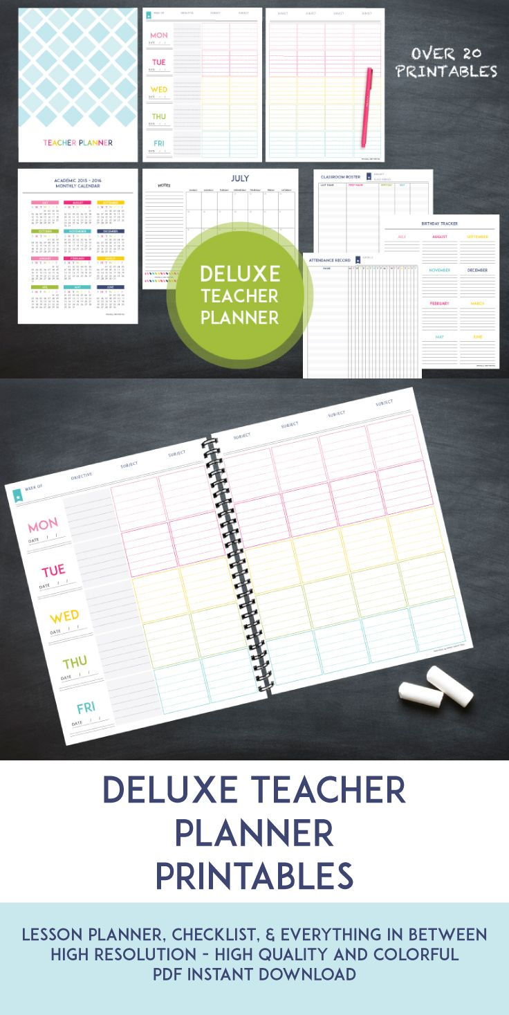 The deluxe teacher lesson planner planners organizing and teacher this deluxe teacher planner has everything to get you organized for the following school year everything from a lesson planner to grade sheets fandeluxe Choice Image