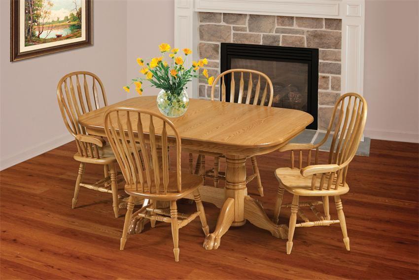 Amish Jumbo Paddle Back Windsor Dining Chair Household