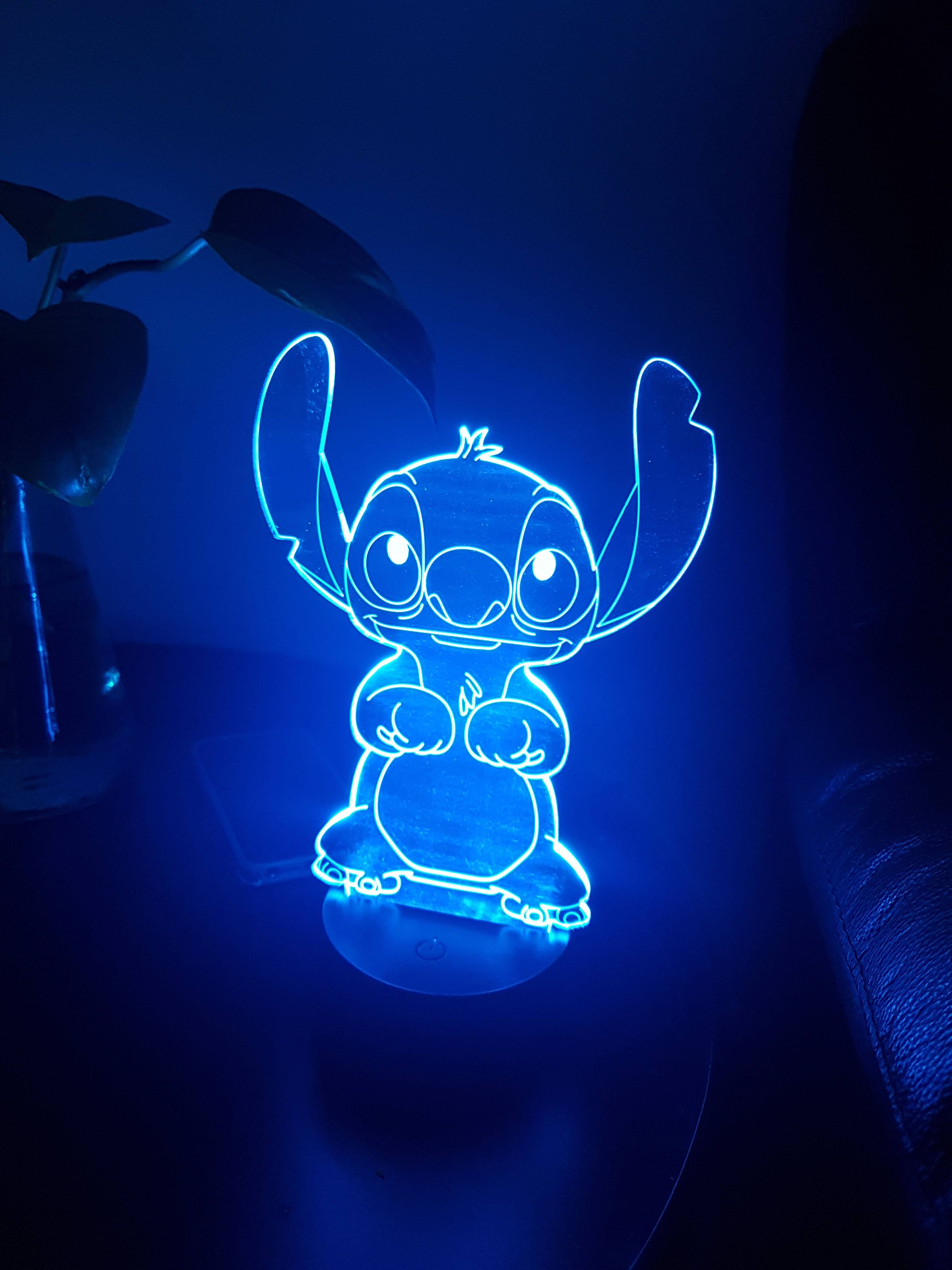 I bought a new lamp. I just hope it doesn't back up sewers reverse street signs and steal everyone's left shoe. #stitchdisney