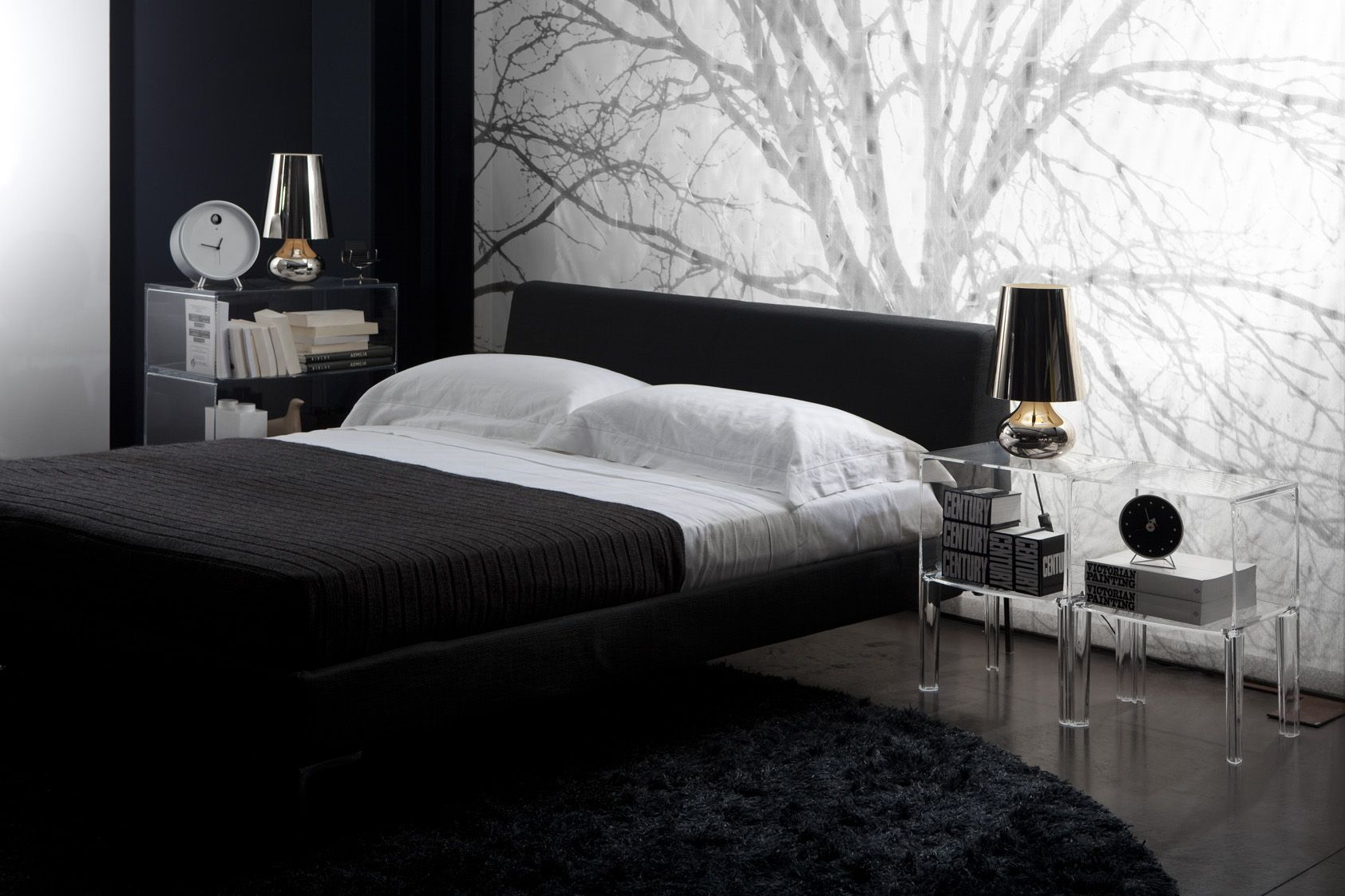 Kartell Complete Bedroom Package 2 x Small Ghost Buster Bedsides ...