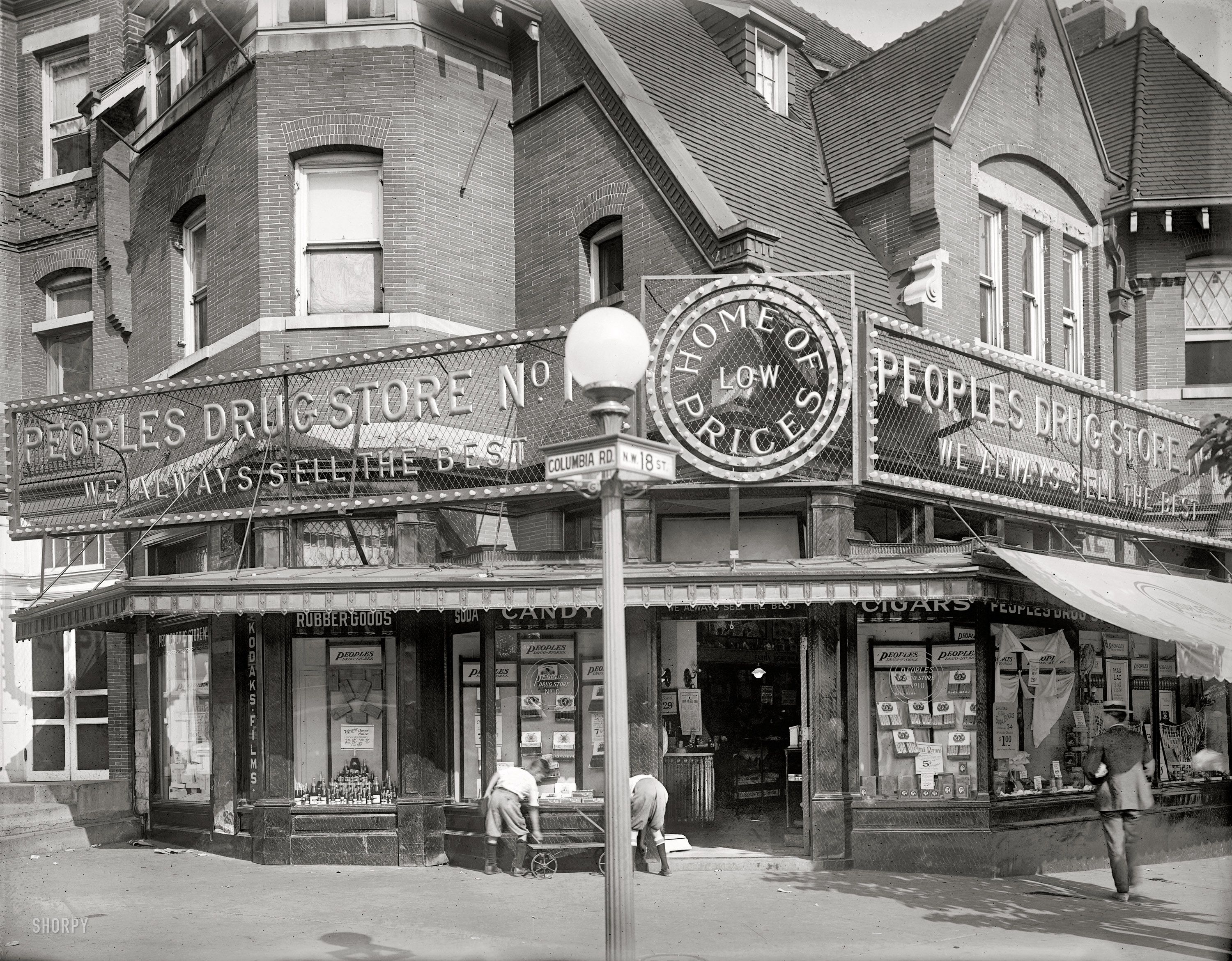 images about d c maryland and virginia washington d c circa 1921 people s drug store 18th street columbia