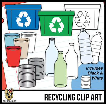 Recycling Clip Art In 2019 Recycling Plastic Cups Recycling Bins