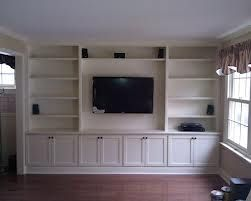 Whole Wall Built Ins Around Tv Instead Of A Fireplace Built In