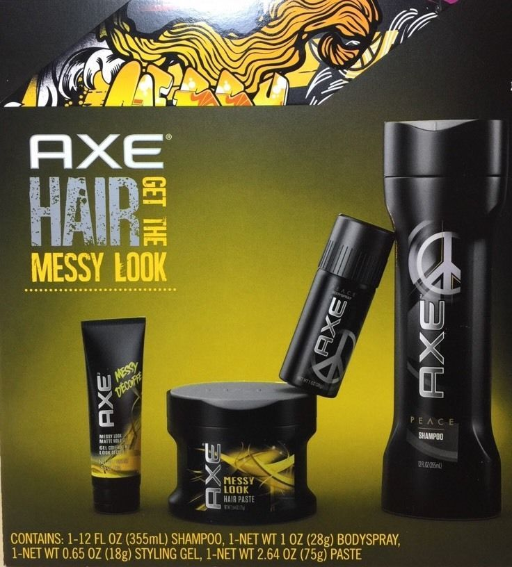 Axe Messy Look Peace 4 Pc Men Hair Body Care Shampoo Spray