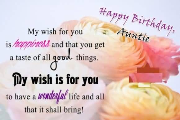 Happy birthday auntie happy birthdays and happies pinterest birthday wishes for aunt happy birthday auntie aunt birthday quotes m4hsunfo