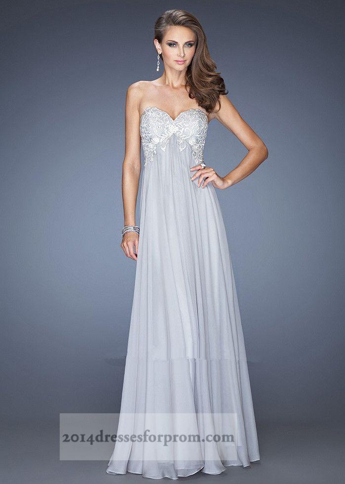 Long Silver Prom Dress - Ocodea.com