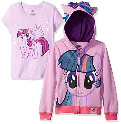 My Little Pony Girls Little Twilight Sparkle Hoodie//Tee Bundle