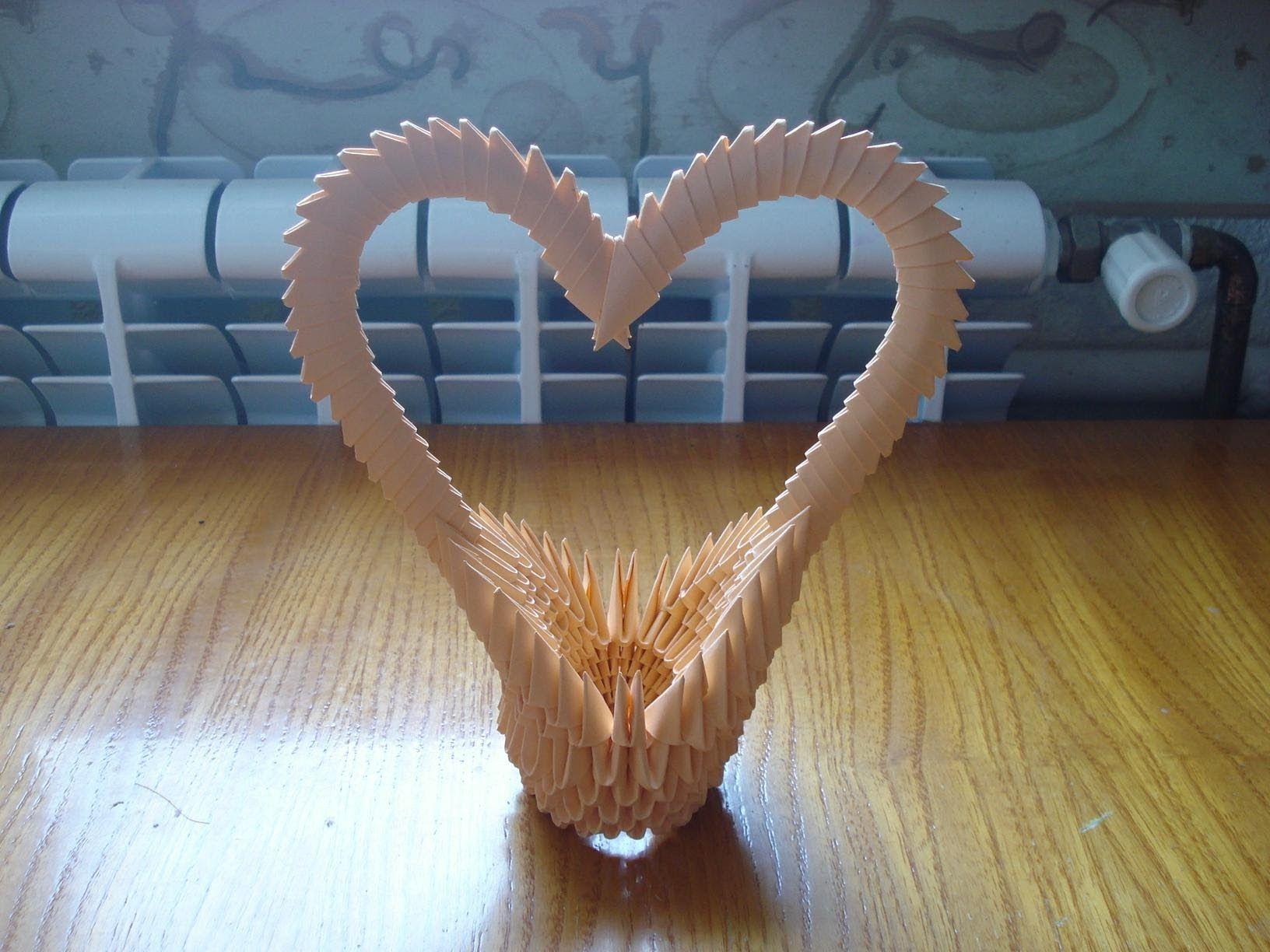 3D Origami Heart Basket Tutorial | 3D Origami | Pinterest ... - photo#28